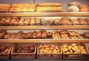 Bread in a bakery